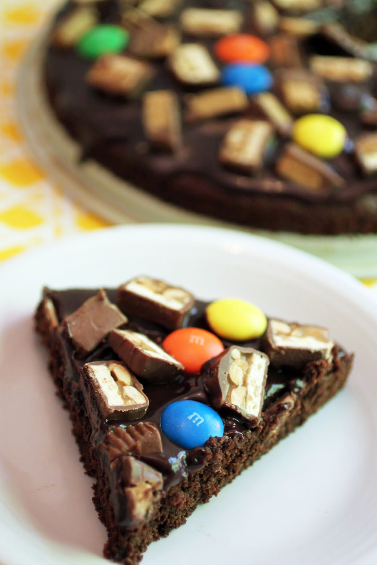 Candy Bar Brownie Cake
