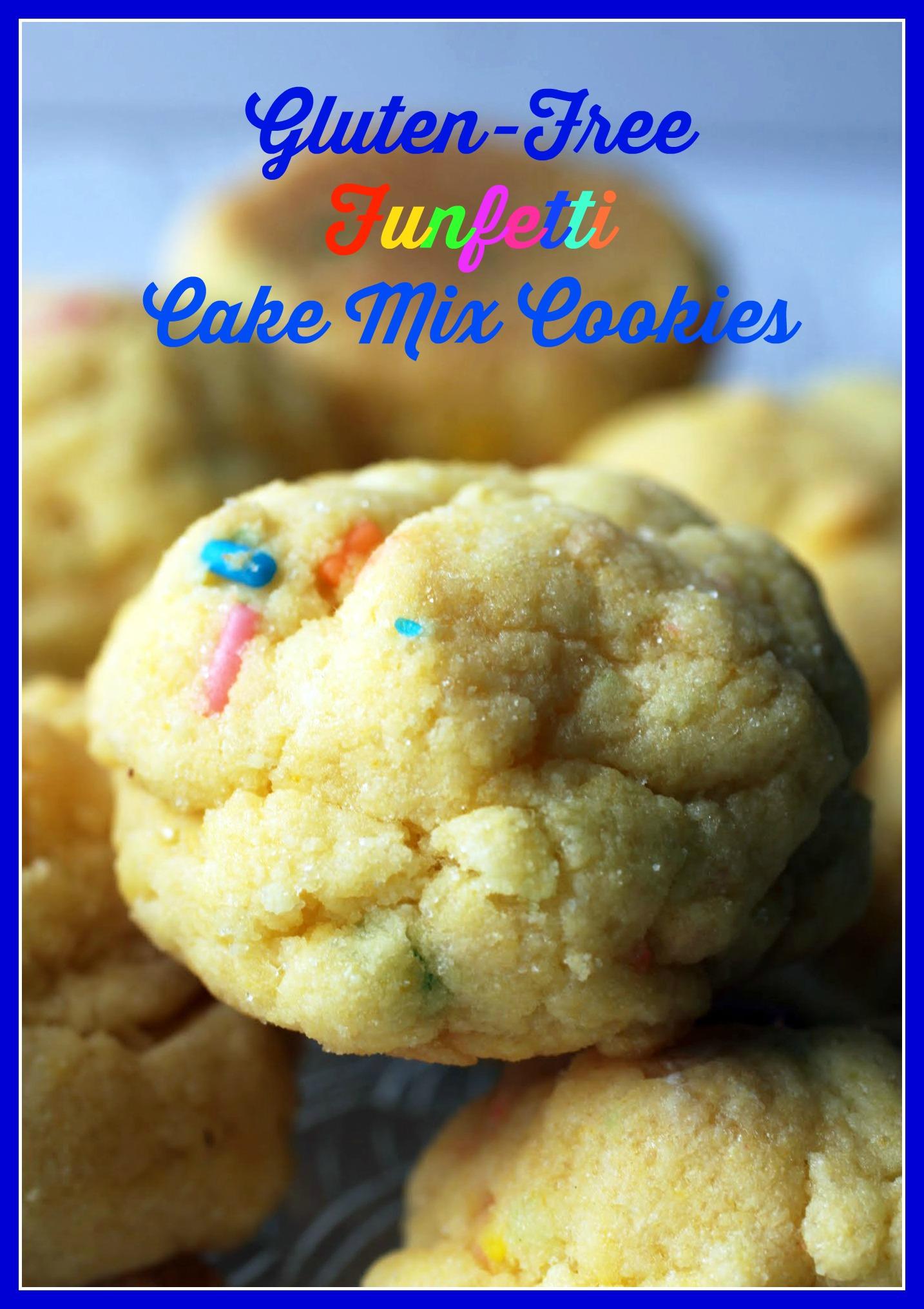 Funfetti Cake Mix Cookies (GF)